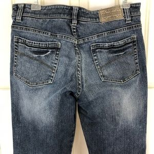 Gianni Bini Distressed Boyfriend Stretch Jeans